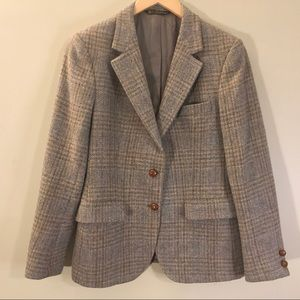 Tailormann Blazer | Taupe Plaid | Pure Wool